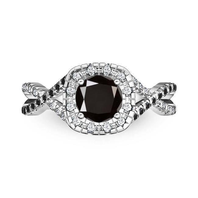 אדיר טבעות אירוסין מיוחדות טבעת קשתות מרשימה ומיוחדת 70 נקודות יהלום CB-17