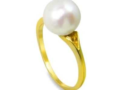 טבעת פנינה עדינה וקלאסית
