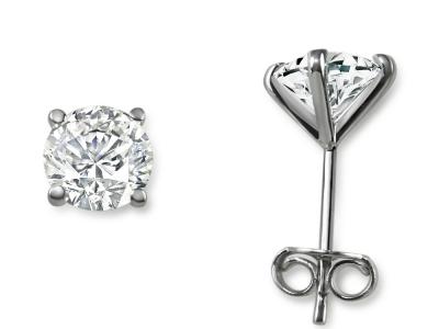 עגילי יהלומים צמודים