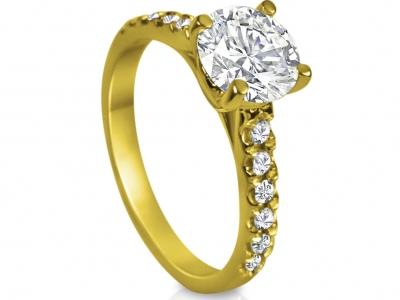 טבעות אירוסין מיוחדות זהב צהוב