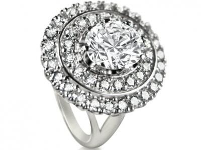 טבעת וינטג' קלאסי עם יהלום 2 קארט