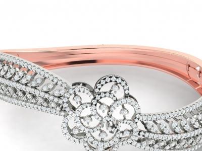 צמידי יהלומים קשיחים לאישה