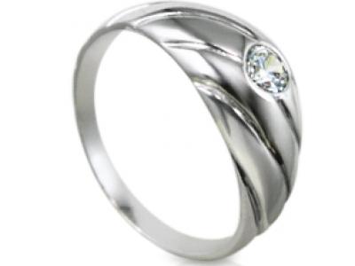 טבעת אירוסין בשיבוץ שטוח