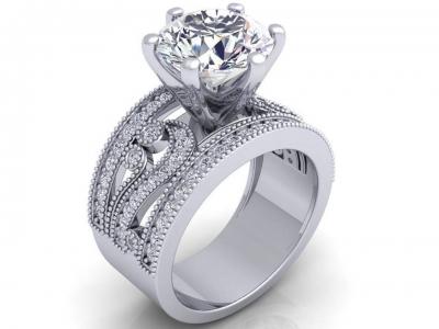 טבעת אירוסין סוליטר לגבר