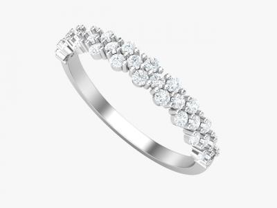 טבעת יהלומים -טבעת נישואין