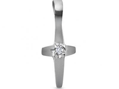 תליון צלב - תליוני צלב תליון זהב ויהלומים  -Diamonds chain cross pendant