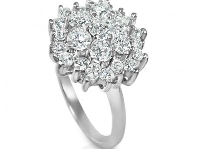טבעת זהב ויהלומים בעיצוב עתיק