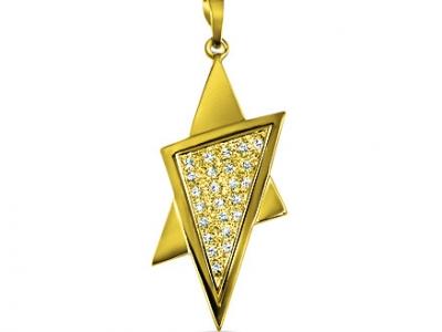 שרשרת מגן דוד זהב ויהלומים