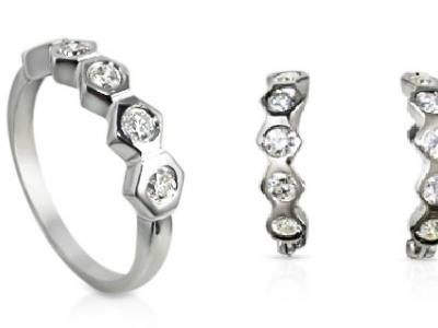טבעת ועגילים מזהב סט