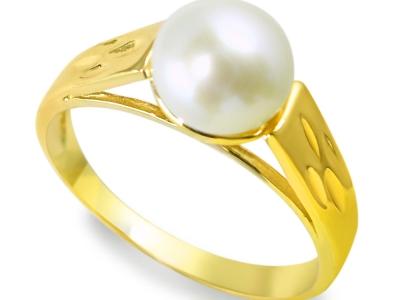 טבעת פנינה מעוצבת