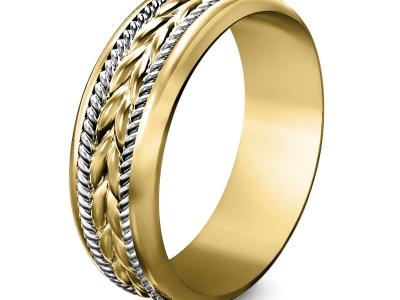 טבעת זהב מעוצבת לגבר
