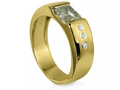 טבעת זהב צהוב להצעת אירוסים