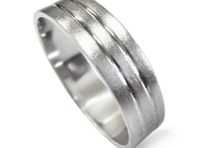 טבעת נישואין תואמות מעוצבת לגבר ולאישה