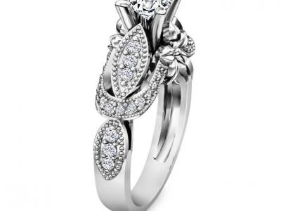 טבעת יהלומים מעוצבת הבורסה ליהלומים