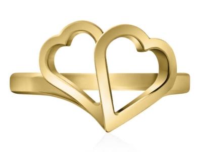 טבעת לב זהב צהוב