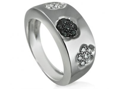 טבעת לגבר יהלומים שחורים
