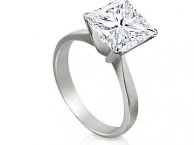 טבעת אירוסין יהלום מרובע 1 קארט