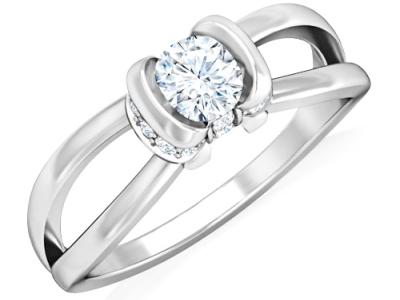 טבעת יהלום מעוצבת לאישה
