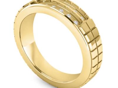 טבעת נישואין מעוצבת לגבר