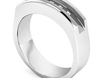 טבעות נישואין משובצות יהלומים לגבר