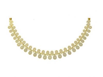 שרשרת זהב ויהלומים יוקרתית