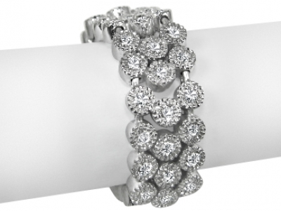 טבעת גמישה זהב ויהלומים