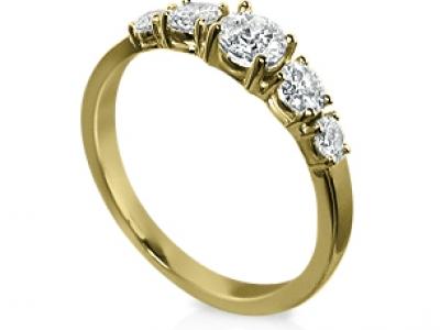 טבעת זהב צהוב יהלומים