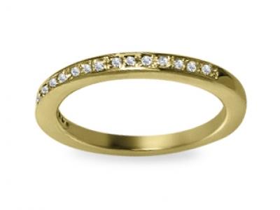 טבעת יהלומים תוספת לטבעת יהלום זהב צהוב