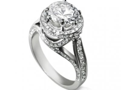 טבעת אירוסין יהלום יוקרתית