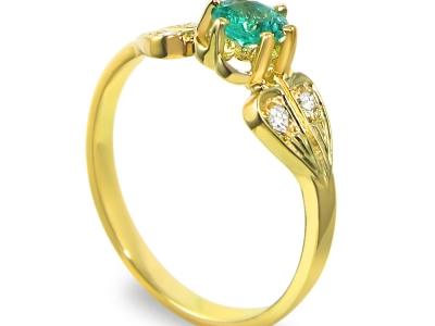 טבעת אבן ברקת אמרלד