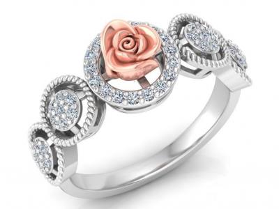 טבעת פרח וינטג