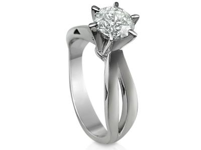 טבעת אירוסין יהלום חצי קרט מרובע פרינסס