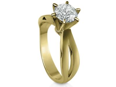 טבעת אירוסין יהלום זהב צהוב