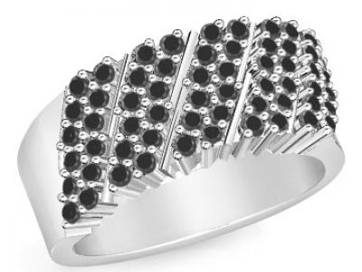 טבעת יהלומים שחורים לגבר