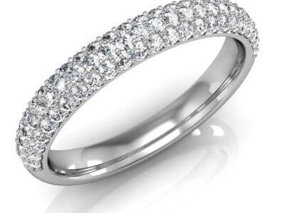 טבעת נישואין יהלומים