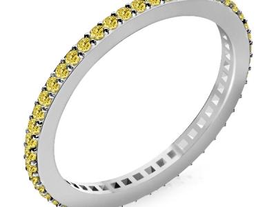 טבעת יהלומים צהובים