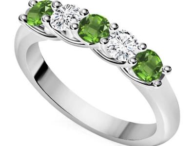 טבעת איניפיניטי משובצת אבני חן ויהלומים