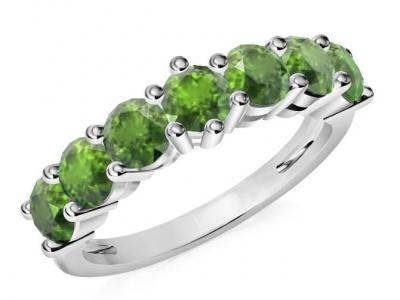 טבעת איניפיניטי משובצת אבני חן