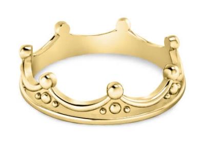 טבעת כתר מזהב