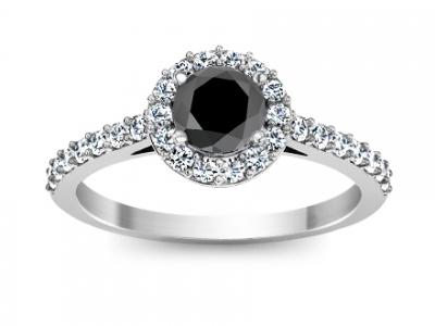 טבעת זהב יהלום שחור