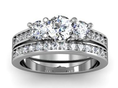 טבעת אירוסין 3 יהלומים