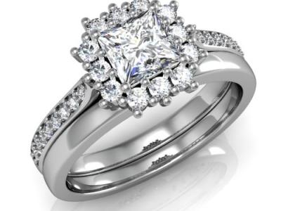 טבעת אירוסין טבעת נישואין מותאמות
