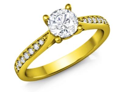 טבעת להצעת אירוסין עם יהלום