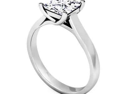 טבעת יהלום מרובע יהלום פרינסס