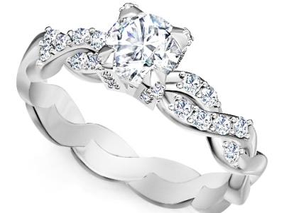 טבעת אירוסין יהלום 1קארט