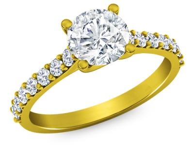 טבעות אירוסין מיוחדות יהלום גדול