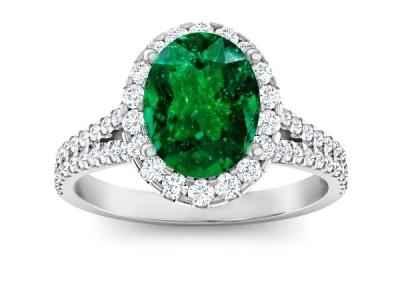 טבעת יהלומים יוקרתית קארט אמרלד ברקת