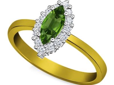 טבעת דיאנה אבן חן אמרלד ברקת