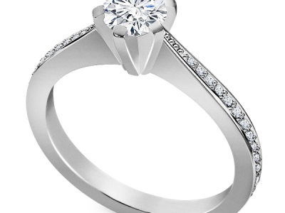 טבעת אירוסין יהלום חצי קרט