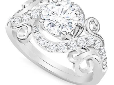 טבעת יהלומים זהב זהוב